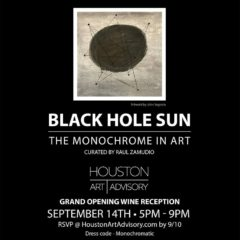 Black Hole Sun: The Monochrome in Art. Houston Art Advisory, Houston TX USA