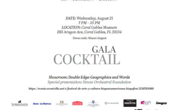 Invitacion HispaFest_Double edge geographies and words Doble filo geografias y palabras Coral Gables Museum Miami USA